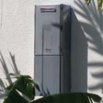 tankless water heater in exterior installation