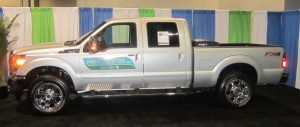 A bi-fuel Ford F-250 from the TECO Peoples Gas Green Fleet.