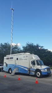 TECO's mobile command center rolls up in Fort Pierce to help get the big job of restoration done.